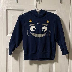 Carter's 2T hooded monster pullover navy